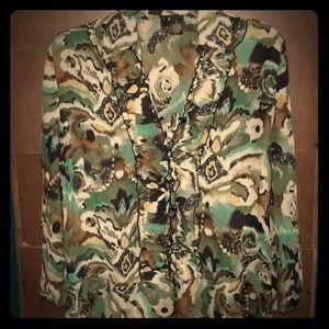 ND chiffon blouse Sz m